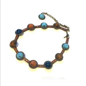 Chicos Belt Embellished Southwest Turquoise Boho